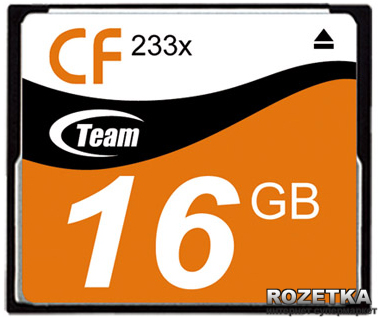 Карта памяти Compact Flash 16GB Team-Group 233x (T 16G23301) T 16G23301